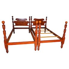 Pair of Twin Cannon Ball Early Beds