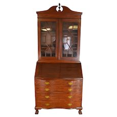Mahogany Governor Winthrop Secretary Desk
