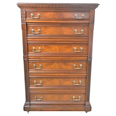 Victorian Lock Side Chest – 6 Drawers