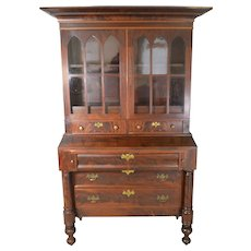 Country Flame Mahogany Empire Secretary Desk