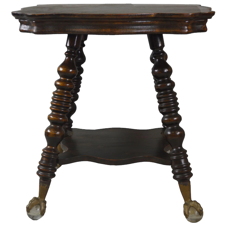 Mahogany Large Gl Ball And Claw Stand Maine Antique Furniture Ruby Lane