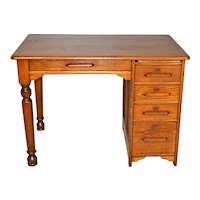 Oak Ladies Child's Flat Top Desk