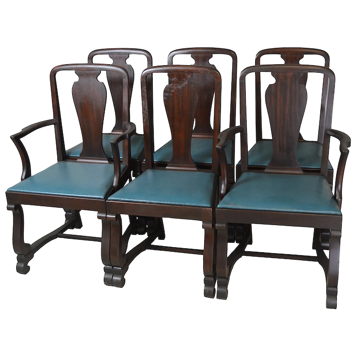 Awe Inspiring Set Of 6 Mahogany Empire Dining Chairs Twin Arms Interior Design Ideas Gentotryabchikinfo