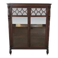 Mahogany Empire China Closet