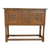 Carved Oak Server / Flat Screen TV Stand
