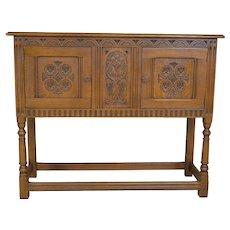 Carved Oak Server / Flat Screen TV Stand