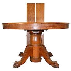 Victorian Oak Split Base Dining Table