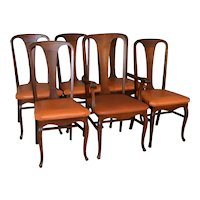 Oak Stylish Set of 6 Dining Chairs