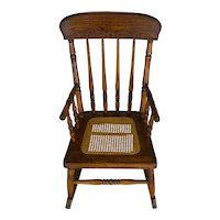 Victorian Oak Press Back Children's Rocker – FREE SHIPPING