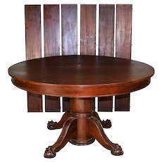 Victorian Mahogany Ball & Claw Banquet Table – 103 Inches Long