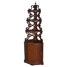 Unusual Victorian Corner What Not Cabinet
