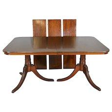 Mahogany Double Pedestal Dining Table – 8 Feet Long