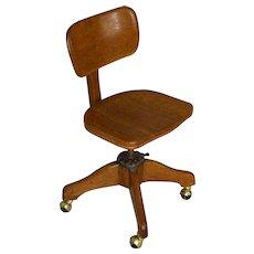 Oak Ladies Stenographers Office Chair – Unusual