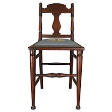 Needlepoint Ladies Vanity Chair – FREE SHIPPING
