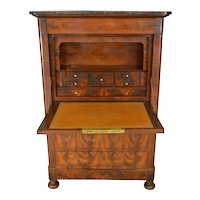 Biedermeier Flame Mahogany Abante Marble Top Chest