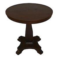 Mahogany Empire Drum Table – 30 Inches Round
