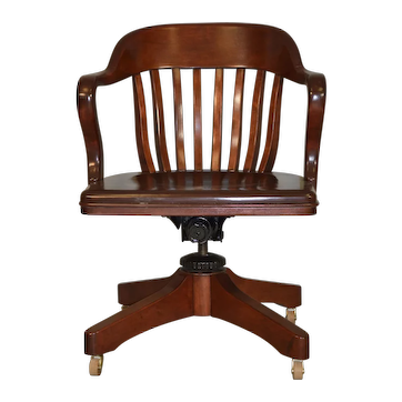 Mahogany Bankers/Lawyers Swivel Tilt Office Chair