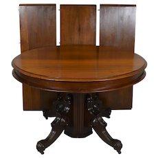 Victorian Split Pedestal Banquet Table – Opens 10 Feet!