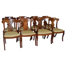 Set of 8 Formal Empire Dining Chairs