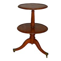 Mahogany Two Tier Butler's Stand