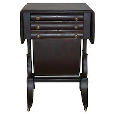 Early Period Sewing Stand Writing Desk Federal