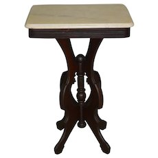 Marble Top Victorian Bedside Stand