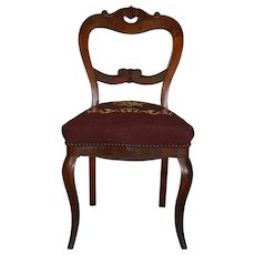 Needlepoint Civil War Era Ladies Desk Chair