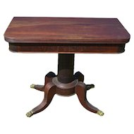 Antique Federal Mahogany Game Card Table