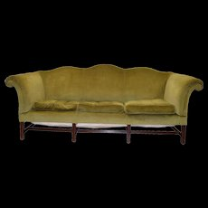 Country Chippendale Camel Back Period Sofa