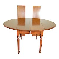 Victorian Walnut Drop Leaf Country Table