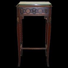Walnut Carved Nightstand 1930s