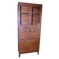 Oak Sectional File Cabinet by Yawnee