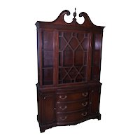 Mahogany Breakfront China Cabinet by Bernhardt