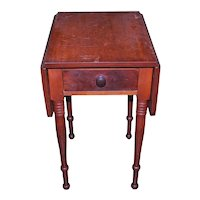 Sheraton Country Period Drop Leaf Work Table with Drawer