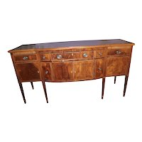 Period Hepplewhite Inlaid Mahogany Sideboard
