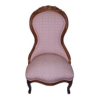 Victorian Grape Carved Ladies Chair Civil War Era