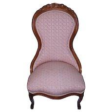 Victorian Grape Carved Ladies Chair Civil War Era