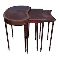 Set of 3 Mahogany Nesting Tables
