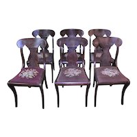 Set of 6 Empire Style Dining Chairs