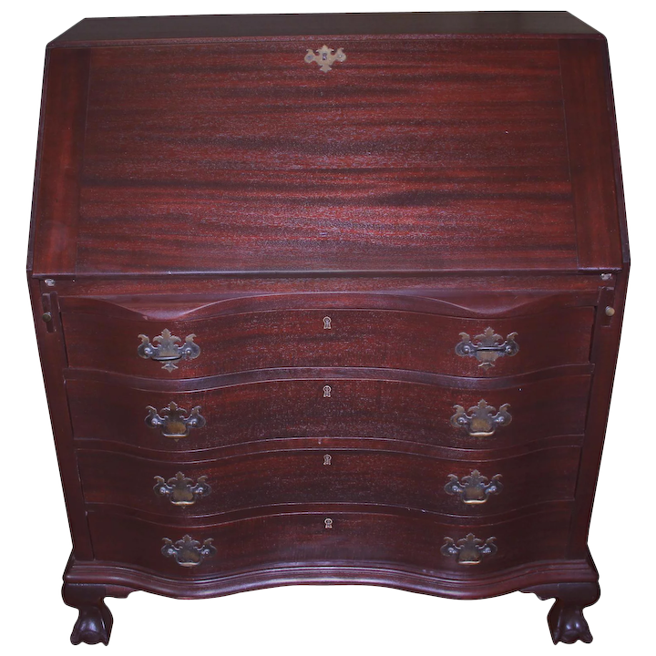 Stupendous Mahogany Governor Winthrop Desk By Maddox Home Interior And Landscaping Oversignezvosmurscom
