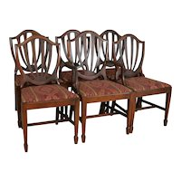 Set of Six Shield Back Hepplewhite Dining Chairs