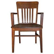 Oak Bankers Arm Chair