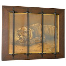 Caged Tiger Picture Frame