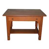 Mission Oak Writing Desk by Limbert