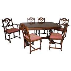 Walnut Dining Room Table & Chairs by Berkey & Gay