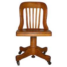 Oak Lady Swivel Chair