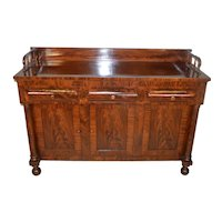 Period Empire Flame Mahogany Sideboard