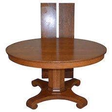 Round Oak Empire Split Base Banquet Dining Table