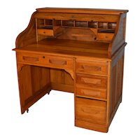 Oak Ladies Roll Top Desk