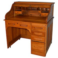Oak Ladies Roll Top Desk